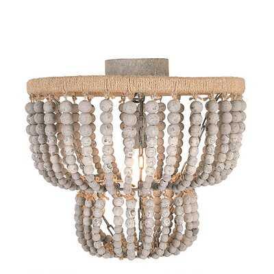 1 - Light 15.75'' Chandelier Style Circle Semi Flush Mount - Wayfair