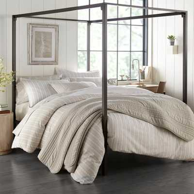 Stone Cottage Oakdale Grey 3-Piece Cotton King Duvet/Sham Set - Home Depot