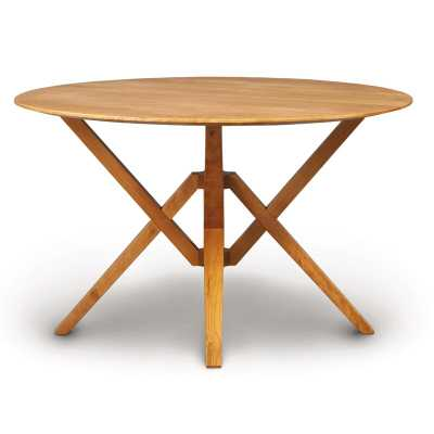 "Copeland Furniture Exeter Round Solid Wood Dining Table Size: 30"" H x 48"" L x 48"" W, Color: Natural Cherry - Perigold"
