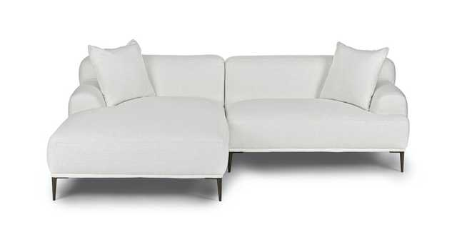 Abisko Quartz White Left Sectional - Article