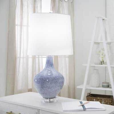"Burkhardt Glass Teardrop 28"" Table Lamp - Birch Lane"