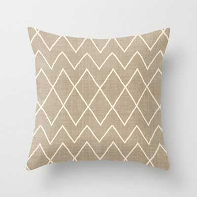 "Avoca In Tan Couch Throw Pillow by Becky Bailey - Cover (18"" x 18"") with pillow insert - Outdoor Pillow - Society6"