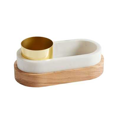 Marble Desk Accessories, Nesting Storage Set, White/Gold - Pottery Barn Teen