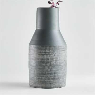Lemont Large Dark Green Vase - Crate and Barrel