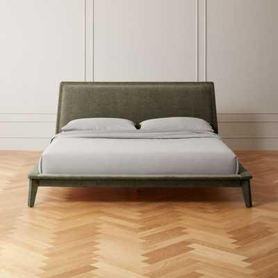 Atria Upholstered Nailhead King Bed Grey - CB2