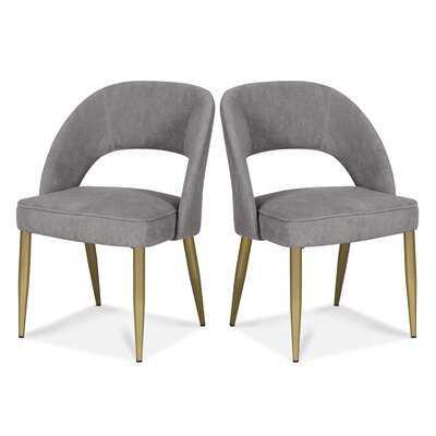 Pirro Velvet Upholstered Side Chair - Set of 2 - Wayfair