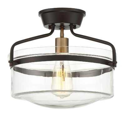 Pollak 1-Light Semi Flush Mount - AllModern