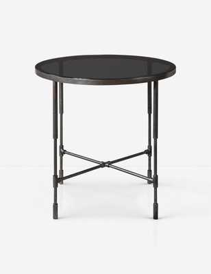 Ynez Accent Table, Aged Steel - Lulu and Georgia