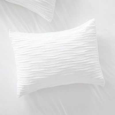 Belamy Standard White Pleated Sham - Crate and Barrel