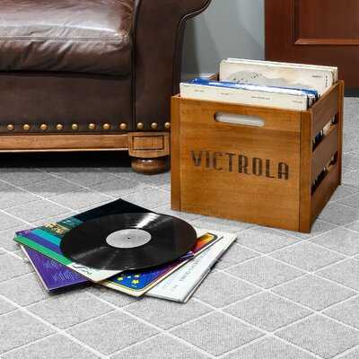 Record Solid Wood Crate - Wayfair