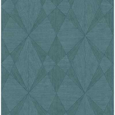 Decorline 8 in. x 10 in. Intrinsic Teal Textured Geometric Sample, Blue - Home Depot