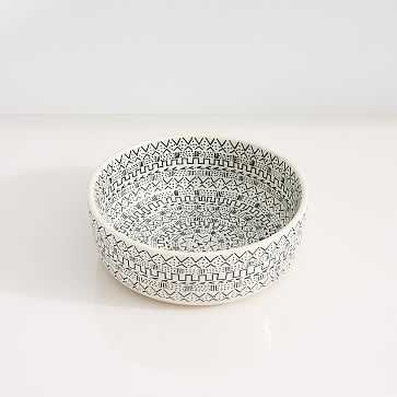 Mbare Centerpiece Bowl, White, Small - West Elm