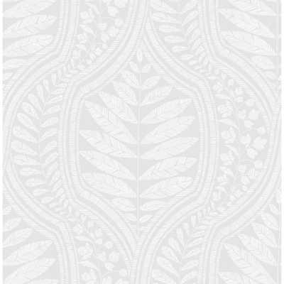 Scott Living Juno Light Grey Ogee Strippable Wallpaper Covers 56.4 sq. ft. - Home Depot