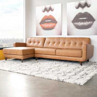 Elva Leather Sectional - Wayfair