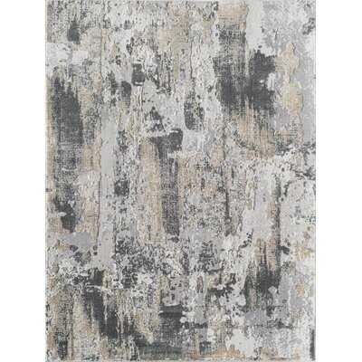 Astor Abstract Gray Area Rug - Wayfair