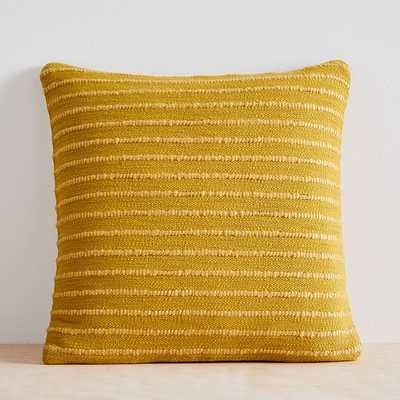 "Soft Corded Pillow Cover with Down Alternative Insert, Dark Horseradish, 20""x20"" - West Elm"