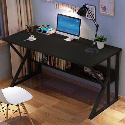 Simple Home Desk Student Writing Desktop Desk Modern Economic Computer Desk Wood Color - Wayfair