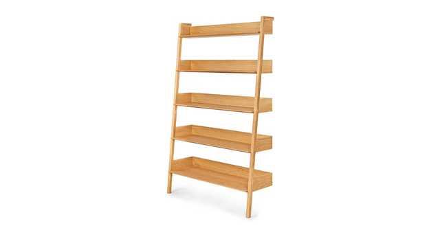 Fantol Oak Wide Bookcase - Article