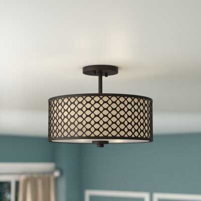 "Coolidge 2 - Light 13"" Unique/Statement Drum Semi Flush Mount - Wayfair"