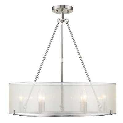 Ruiz 6 - Light Candle Style Drum Chandelier - Wayfair