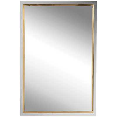 """Uttermost Locke Chrome and Gold 20"""" x 30"""" Vanity Wall Mirror - Style # 88A93 - Lamps Plus"""
