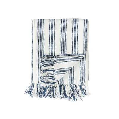 Willisville Stripe Cotton Throw - Birch Lane