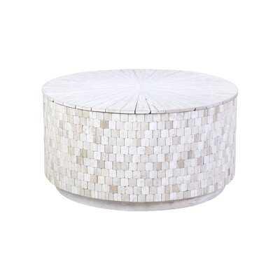 Morrilton Solid Wood Drum Coffee Table with Storage - Wayfair