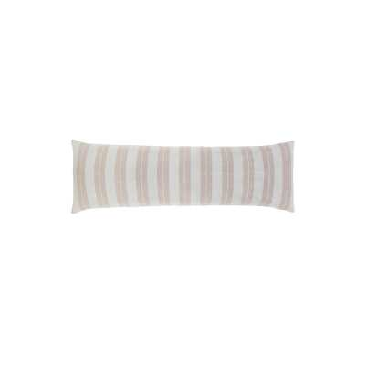 """Pom Pom At Home Carter Feathers 18"""" x 60"""" Body Pillow Color: Ivory/Amber - Perigold"""