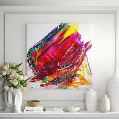 """'Ruby' Painting on Canvas Size: 40"""" H x 40"""" W x 1.5"""" D - Perigold"""