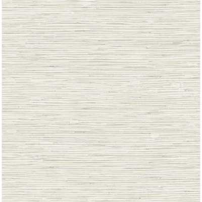 Seabrook Designs Silverton Metallic Gold, Grey, & Off-White Faux Grasscloth Wallpaper, Metallic Gold/ Grey/ & Off-White - Home Depot