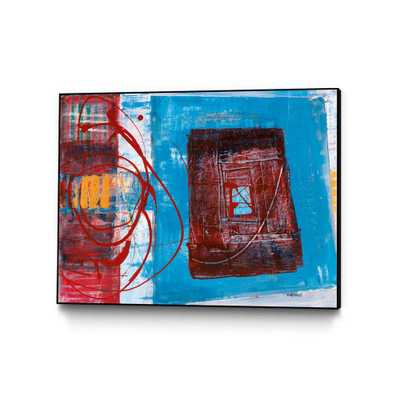 """CLICART 28 in. x 22 in. """"Enthousiasme"""" by Jacques Clement Framed Wall Art, red/ blue - Home Depot"""