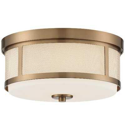 """Chrisley 2 - Light 13.62"""" Drum/Cylinder Drum Flush Mount - Wayfair"""