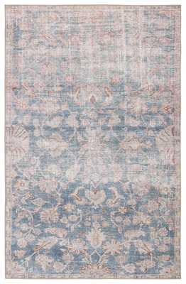 Bardia Indoor/ Outdoor Oriental Blue/ Light Pink Area Rug (8'X10') - Collective Weavers