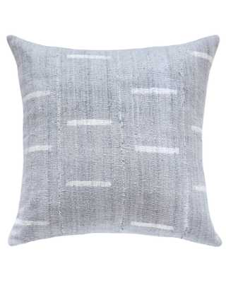 dash mud cloth pillow in grey - with insert - PillowPia