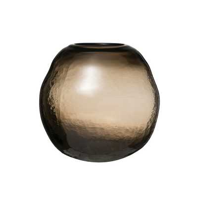 Transparent Ball-Shaped Glass Vase - Nomad Home