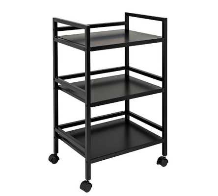 "Metal Rolling Cart, Black, 19""W x 31""H - Pottery Barn"