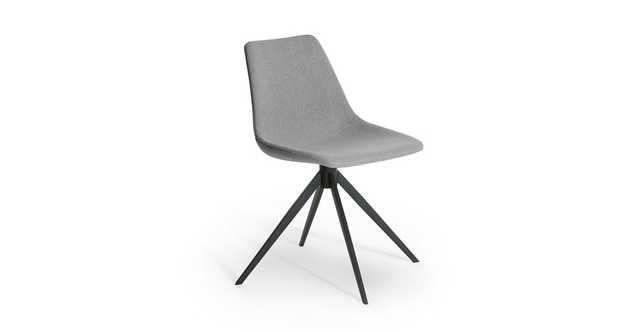 Wilsta Stratus Gray Swivel Dining Chair - Article