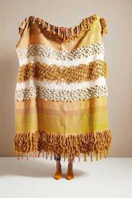 All Roads Bloomfield Throw Blanket By All Roads Design in Yellow - Anthropologie
