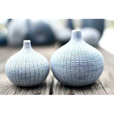 2 Piece Askov Porcelain Table Vase Set - Wayfair