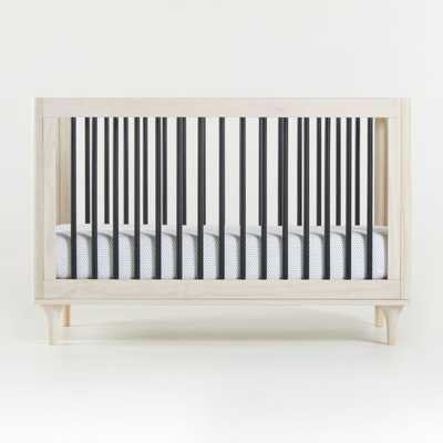 Babyletto Lolly Washed Natural and Black 3-in-1 Convertible Crib - Crate and Barrel