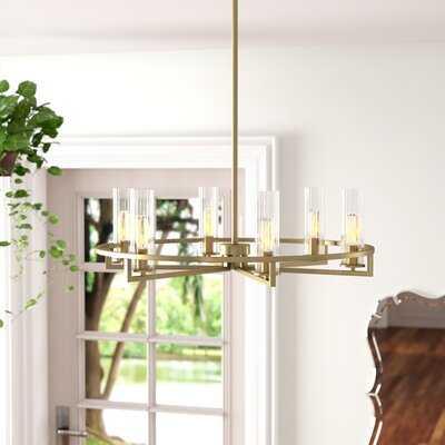 6 - Light Candle Style Wagon Wheel Chandelier - Wayfair