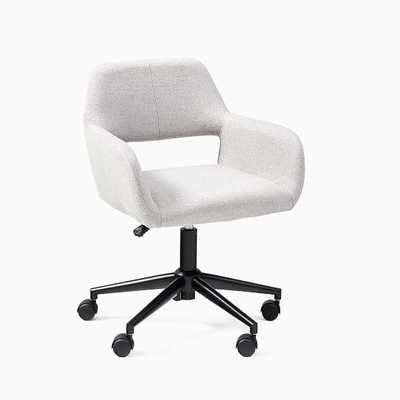 Lake Collection Feather Grey/Black Office Chair - West Elm