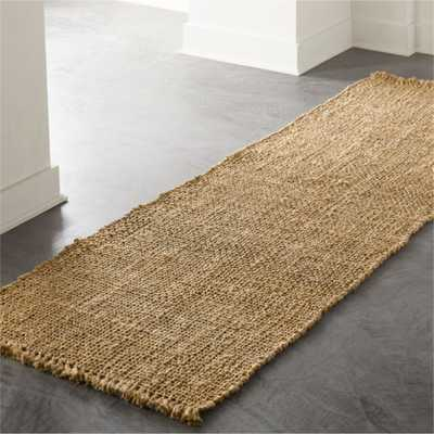 Leno Natural Handwoven Jute Runner 2.5'x8' - CB2