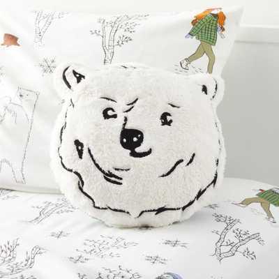 Polar Bear Face Pillow - Crate and Barrel