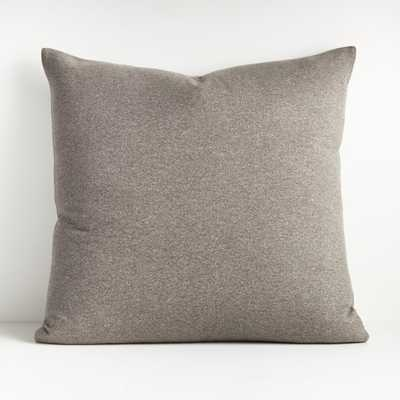 "Carlo Grey Reversible Throw Pillow 23"" - Crate and Barrel"