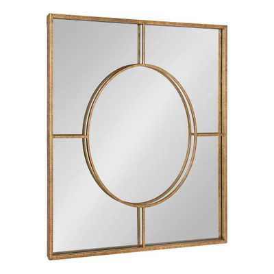 Kate and Laurel Ansonia Square Gold Wall Mirror - Home Depot
