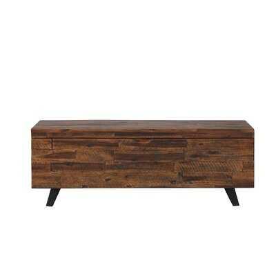 Deerfield Acacia Wood Storage Bench - AllModern