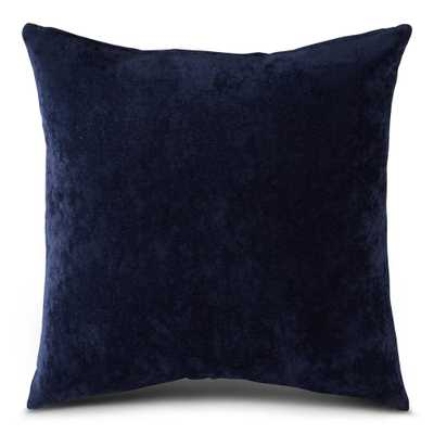 Greendale Home Fashions Solid Royal Blue Velvet 24 in. x 24 in. Square Throw Pillow Cover - Home Depot