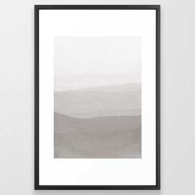 Subtle Layers Framed Art Print by Georgiana Paraschiv - Vector Black - LARGE (Gallery)-26x38 - Society6