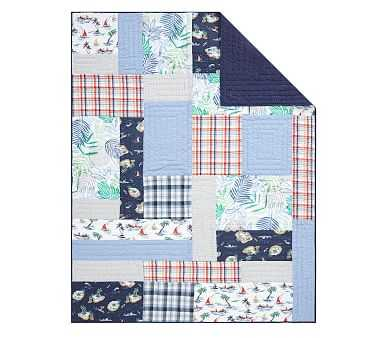 Surf Vibes Quilt, Twin, Multi - Pottery Barn Kids